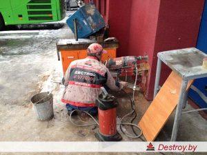 алмазное бурение отверстий в бетоне в Дестрой