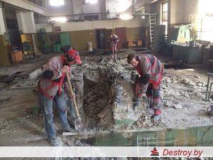 демонтаж перегородок из блоков в Дестрой