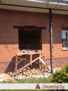 усиление оконных проемов в кирпичных стенах в Дестрой