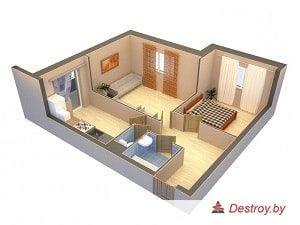 проект перепланировки в квартире