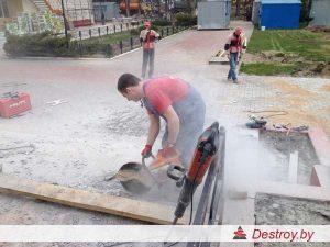 """алмазная резка бетона в """"Дестрой"""""""