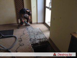 демонтаж керамической плитки в Дестрой
