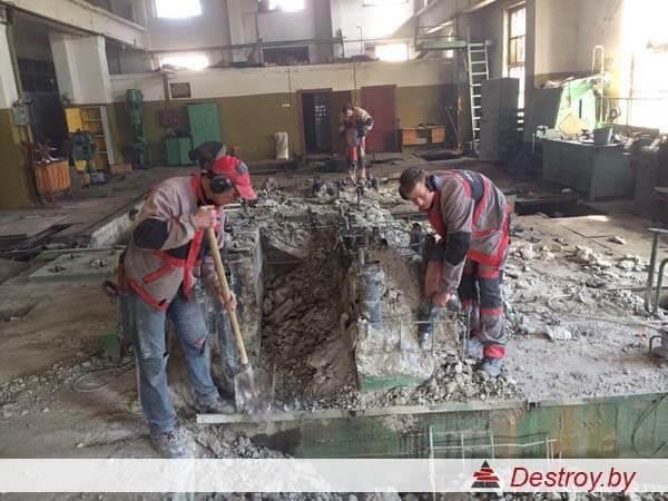 демонтаж перегородки из блоков
