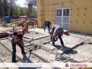 демонтаж плитки в Дестрой