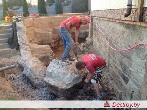демонтаж дома в Дестрой