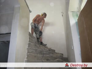 демонтаж бетонных лестниц