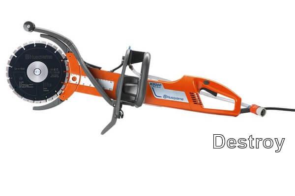 оборудование для демонтажа: бензорезы