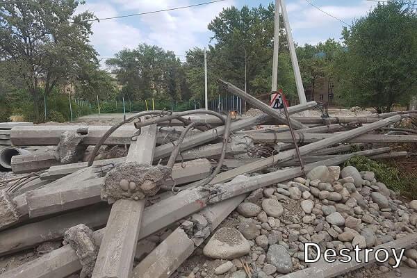 демонтаж столбов