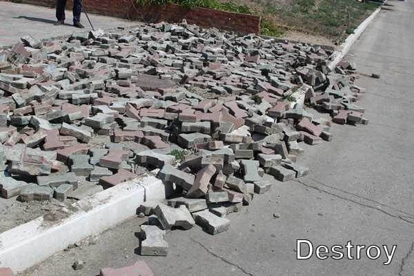 демонтаж бордюров и бордюрного камня