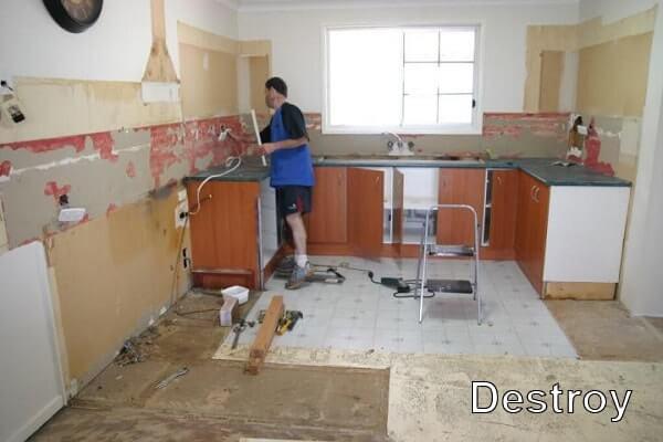 демонтаж кухни и кухонного оборудования