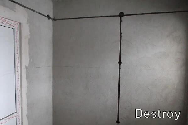 штробы в стене
