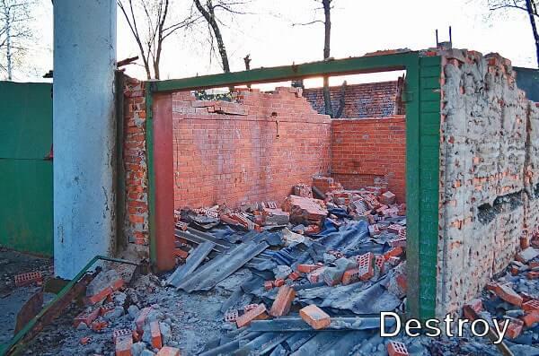 снос и демонтаж гаражей