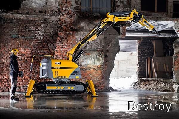 использование робототехники при демонтаже