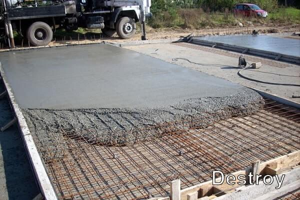 свежий бетон