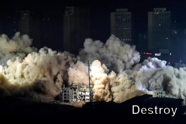 взрыв зданий в Китае