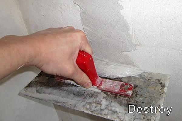 заделка штроб в стене
